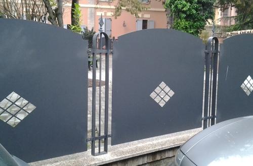 Recinzioni In Ferro Per Giardino.Vendita Recinzioni In Ferro Battuto Modena E Provincia Allu Fer Idea